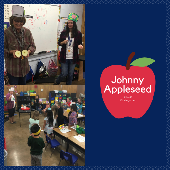Kindergarten celebrating Johnny Appleseed Day