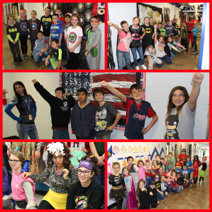 Red Ribbon Week Tuesday - Elementary - Superhero Day JH/HS - Crazy Hair & Socks