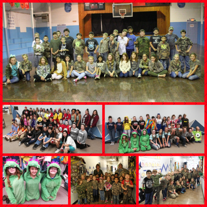 Red Ribbon Week Pics! Elementary - Camo Day JH/HS - Twin Day