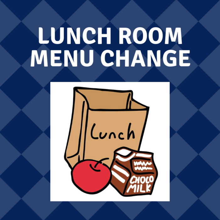 Elementary Campus Only:  Tomorrow, Friday, October 26 there will be a menu change due to early release day. We will have Ham & Cheese Sandwiches, Chips, Fruit & Milk.