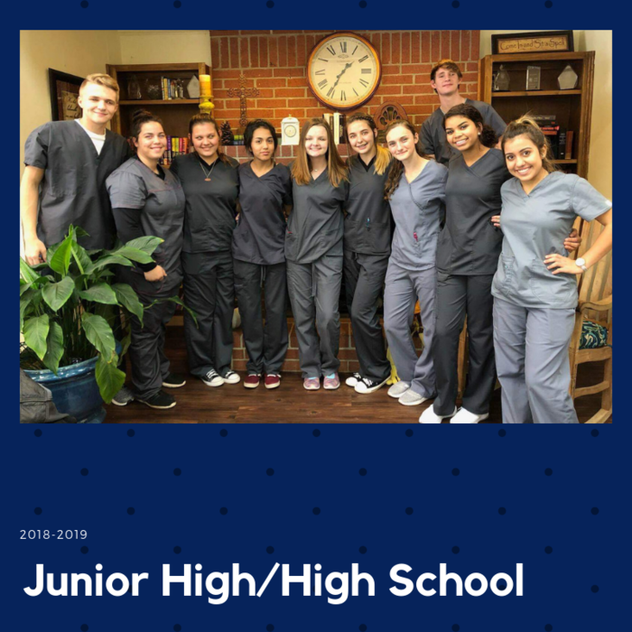 Broaddus High School Nurse Aide Students' first clinical day at Colonial Pines Healthcare Center!