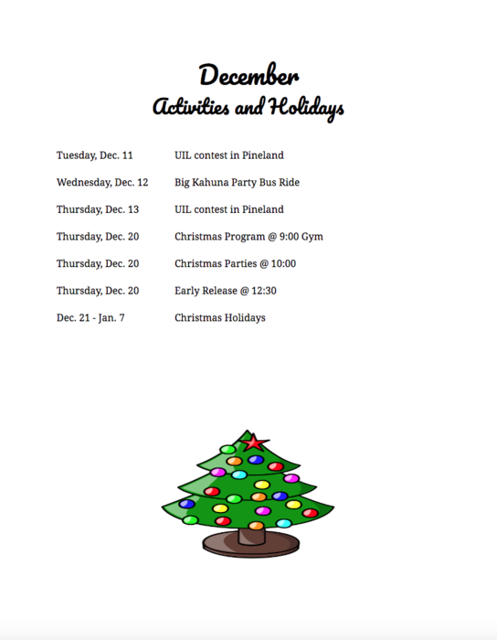 Broaddus Elementary December news!