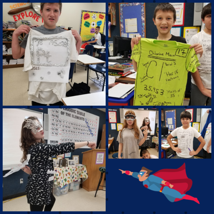 6th Grade Superhero Elements