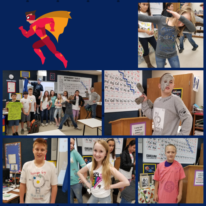 6th Grade Super Hero Elements