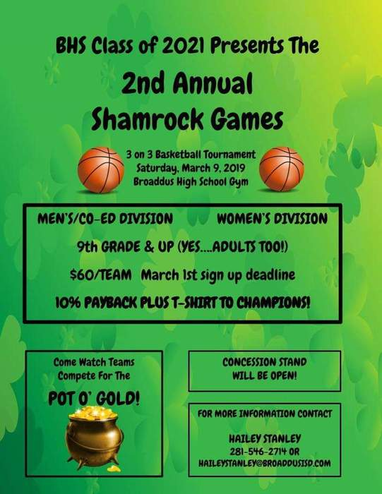 2nd Annual Shamrock Games Info:
