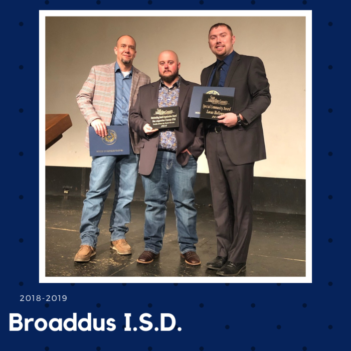 Mr. Woods & Mr. Jacks are presented with the Outstanding Youth Organization Award and Mr. Holloway is presented with the Special Community Award