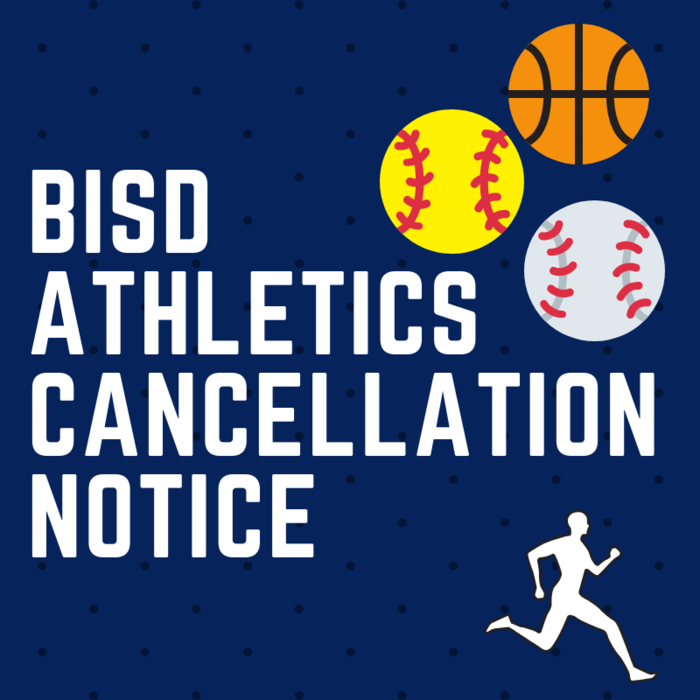 BISD Athletics Cancellation Notice