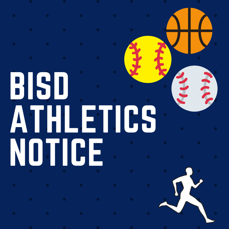 BISD Athletics Notice
