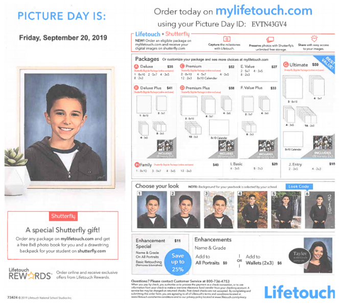 Picture Day Friday, Sept. 20, 2019