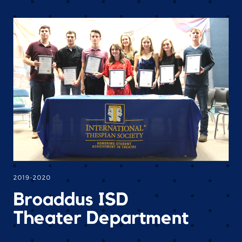 Congratulations to these students on their induction into the International Thespian Society!