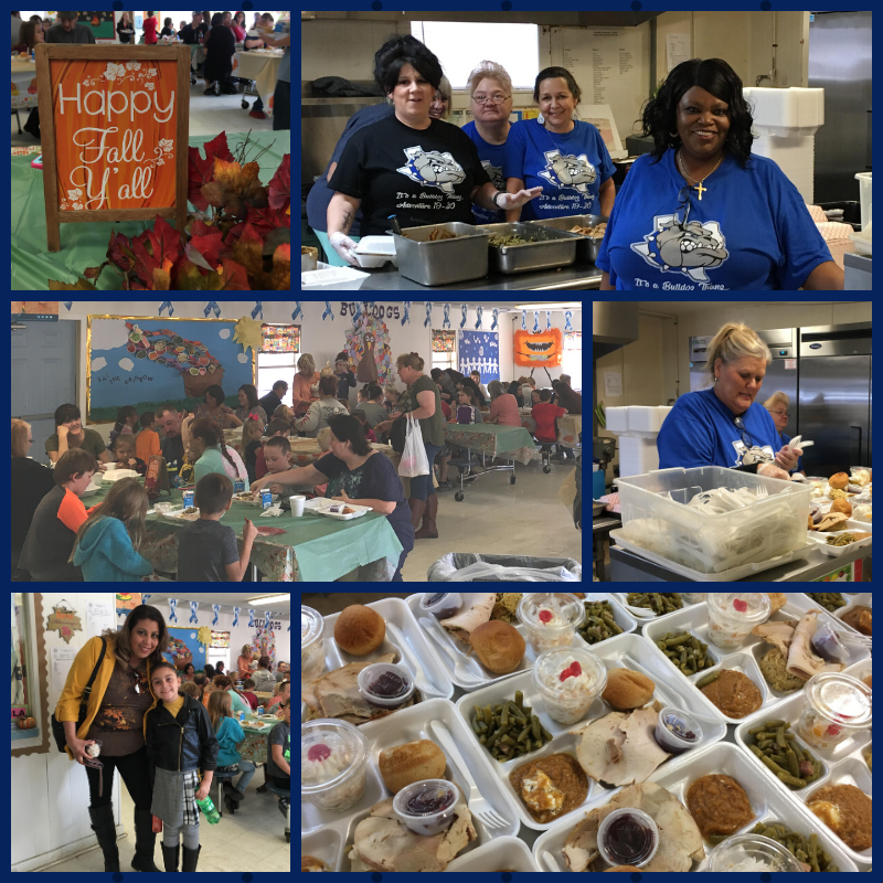 Broaddus elementary Thanksgiving luncheon
