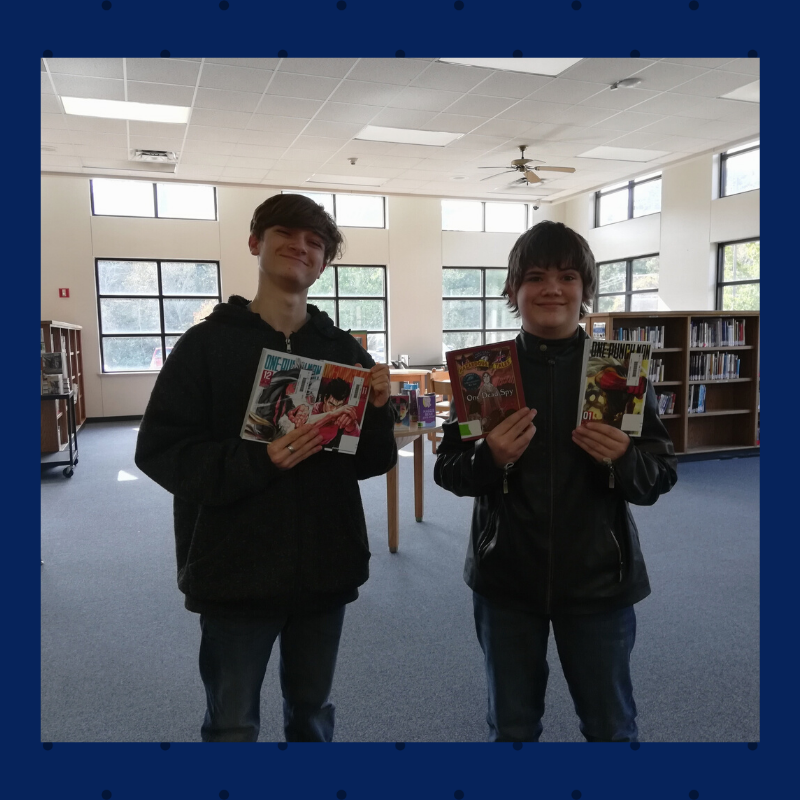 The look you get when the graphic novels you've been waiting on FINALLY arrive at the media center! :-)