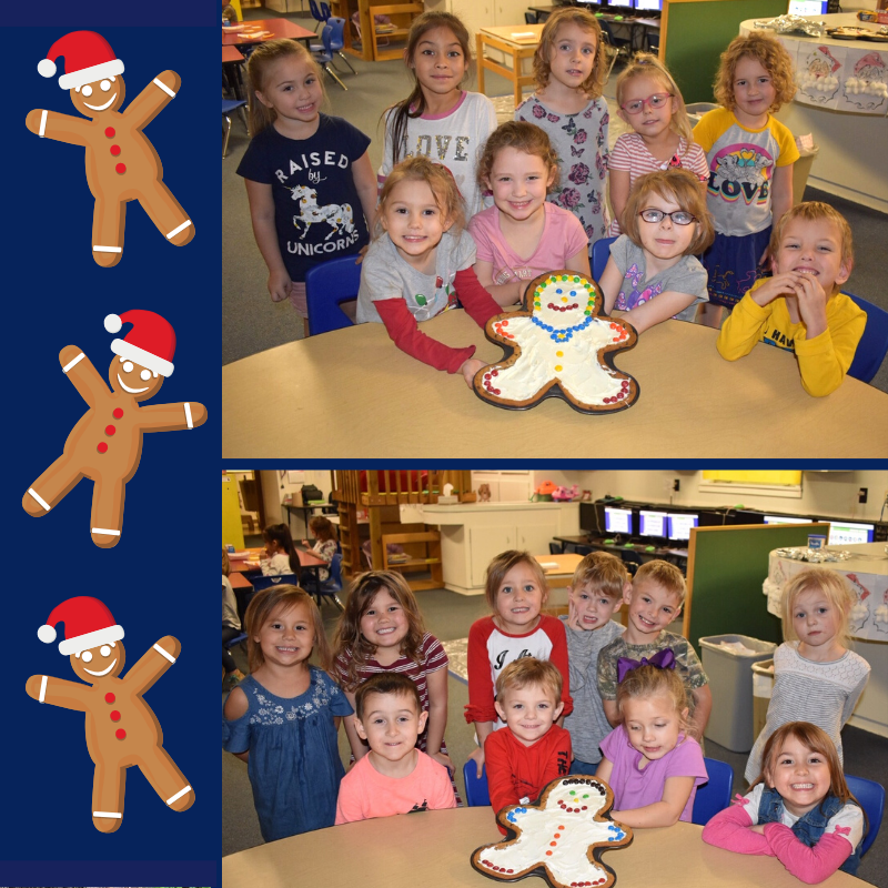 Pre-K had fun making a gingerbread boy and girl! :-)